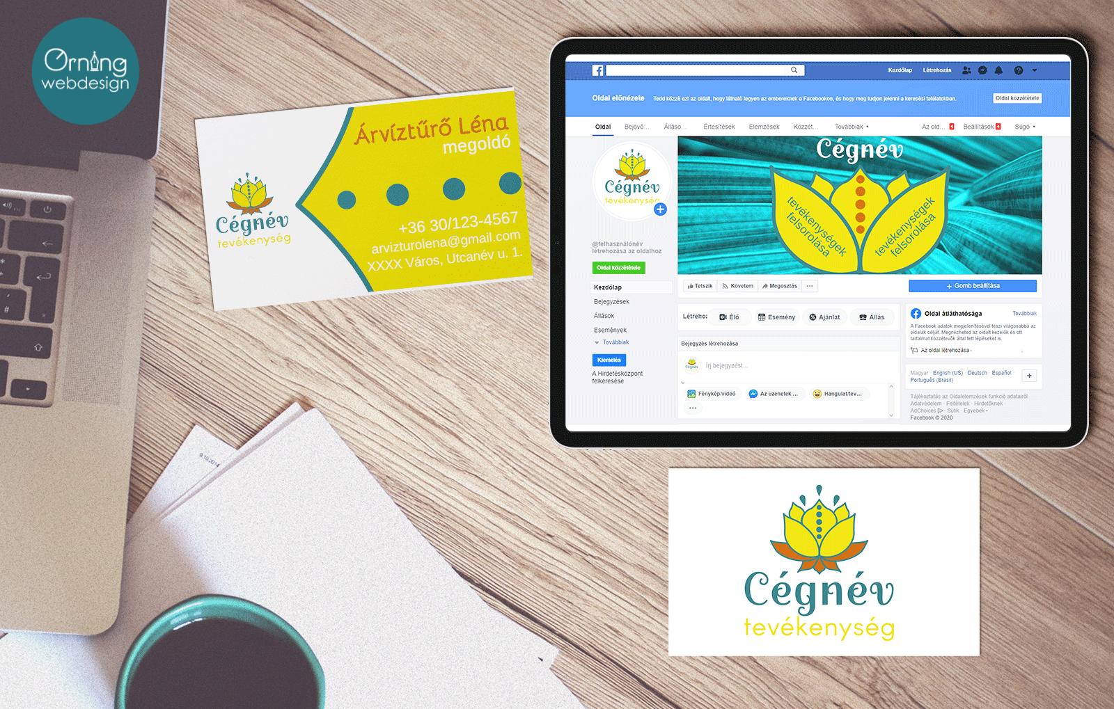 A csomagban egyedi logó- ill. névjegy grafikai terve, Facebook borítókép található kedvezményes áron. Rövid idő alatt elérhető.
