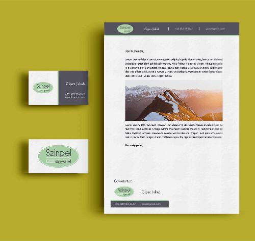 Kisarculat mockup-Orning Anikó, webdesign, logó- és arculattervezés, honlapkészítés, grafikai munkák, plakát tervezése, felhasználóbarát és reszponzív weboldal tervezése, Pécs, kedvezményes ár