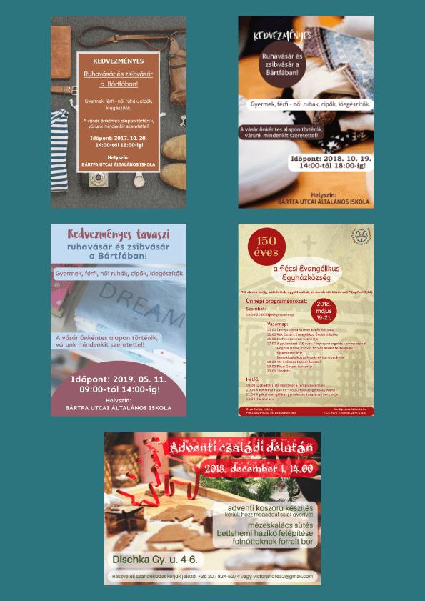 Plakát tervek-Orning Anikó, webdesign, logó- és arculattervezés, honlapkészítés, grafikai munkák, plakát tervezése, felhasználóbarát és reszponzív weboldal tervezése, Pécs, kedvezményes ár