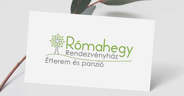 Rómahegy Rendezvényház - logó - Orning Anikó, webdesign, logó- és arculattervezés, honlapkészítés, grafikai munkák, plakát tervezése, felhasználóbarát és reszponzív weboldal tervezése, Pécs, kedvezményes ár