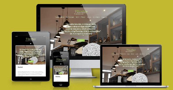 Rómahegy Rendezvényház weboldal mockup-Orning Anikó, webdesign, logó- és arculattervezés, honlapkészítés, grafikai munkák, plakát tervezése, felhasználóbarát és reszponzív weboldal tervezése, Pécs, kedvezményes ár