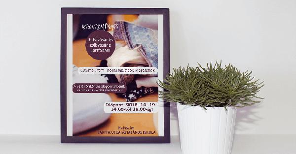 Bártfa utcai iskolai ruhavásár-Orning Anikó, webdesign, logó- és arculattervezés, honlapkészítés, grafikai munkák, plakát tervezése, felhasználóbarát és reszponzív weboldal tervezése, Pécs, kedvezményes ár