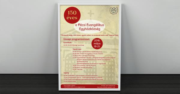 Pécsi Evangélikus Egyházközség plakát-Orning Anikó, webdesign, logó- és arculattervezés, honlapkészítés, grafikai munkák, plakát tervezése, felhasználóbarát és reszponzív weboldal tervezése, Pécs, kedvezményes ár