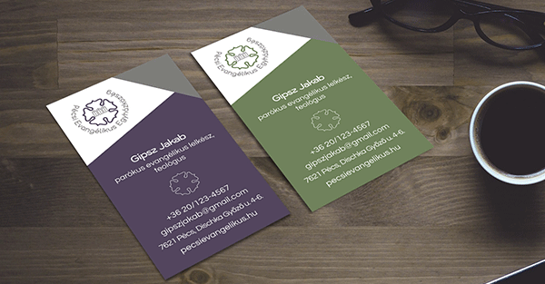 Pécsi Evangélikus Egyházközség névjegy-Orning Anikó, webdesign, logó- és arculattervezés, honlapkészítés, grafikai munkák, plakát tervezése, felhasználóbarát és reszponzív weboldal tervezése, Pécs, kedvezményes ár