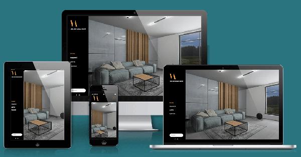 Vida Adrienn lakberendező weboldal mockup-Orning Anikó, webdesign, logó- és arculattervezés, honlapkészítés, grafikai munkák, plakát tervezése, felhasználóbarát és reszponzív weboldal tervezése, Pécs, kedvezményes ár